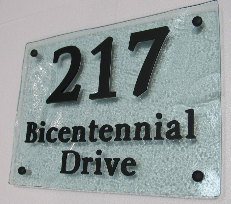 Glass Look House Number Plates Bobject