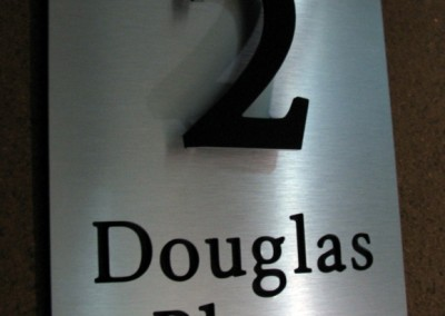 Douglas Place 300 x 400 letters cut in byington font A