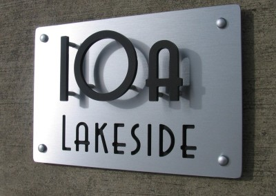 Lakeside 300mm x 200mm letters cut in Avenida font A