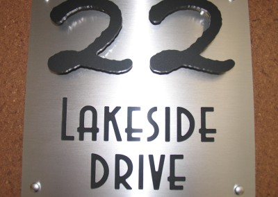 Lakeside 300mm x 300mm letters cut in A