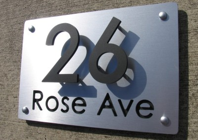 Rose Ave 300mm x 200mm letters cut in A
