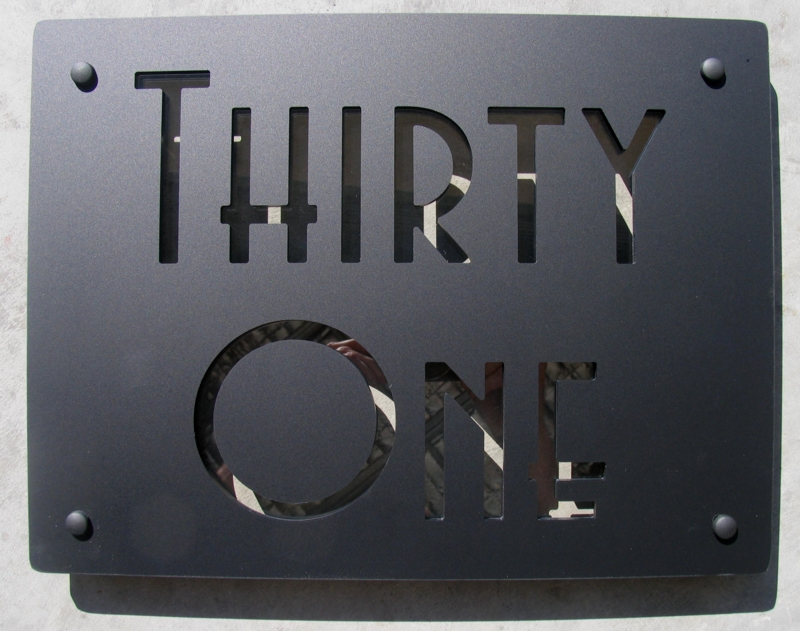 Matt Black plate with Clear Acrylic text highlight