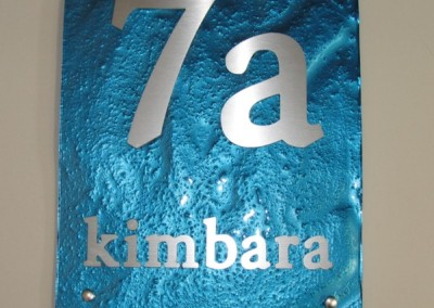 kimbara 300mm x 400mm byington font electric blue plate A
