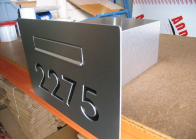 Custom Cave Letterbox with numbers cut in