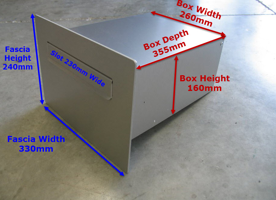 Cave Deep Wall Letterbox Dimensions