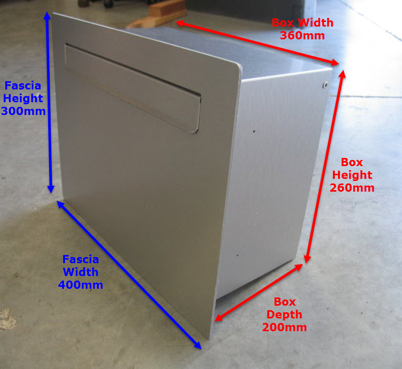 Cave Shallow Wall Letterbox Dimensions