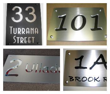 Cut In House Number Plates