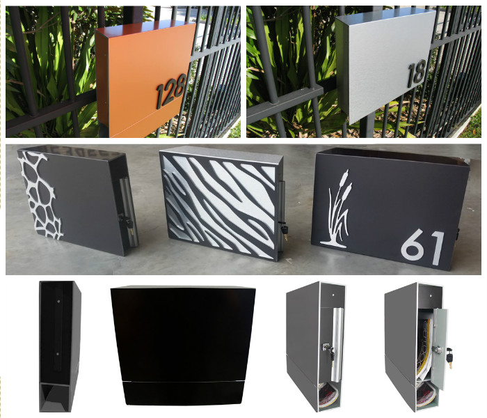 Mountain Fence Mount Letterboxes