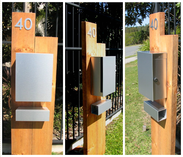 Mountain Letter - Parcel box on Timber Sleeper