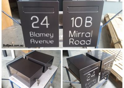 Satin Black Cave Letterboxes