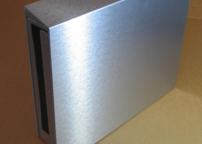 Brushed Aluminium Landscape Mountain Letterbox