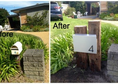 Before-After Customer with Mountain Letterbox