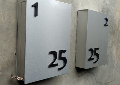 Brushed Aluminium Portrait Mountain Letterboxes